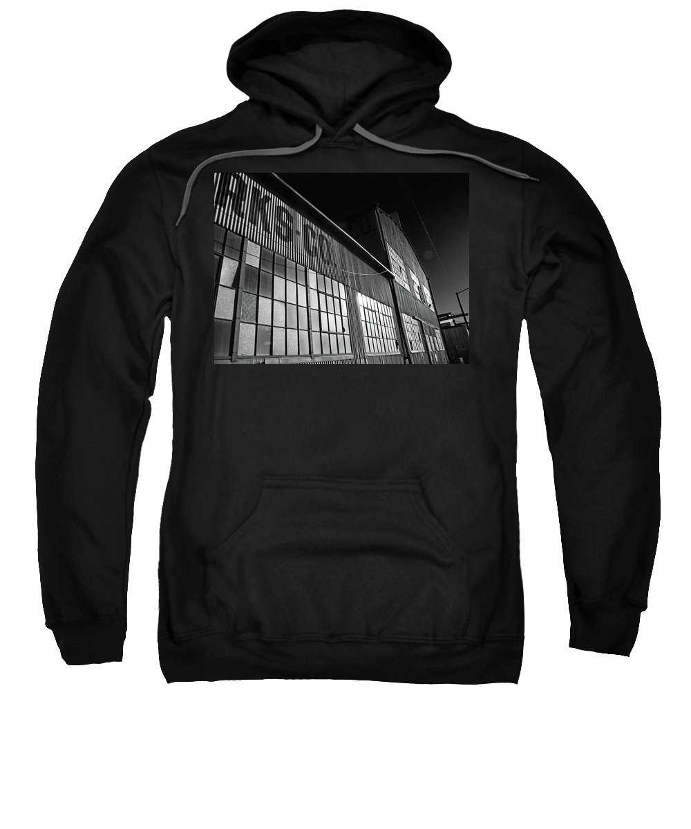 Abstract Sweatshirt featuring the photograph Manufacturing 2-1 by Lenore Senior