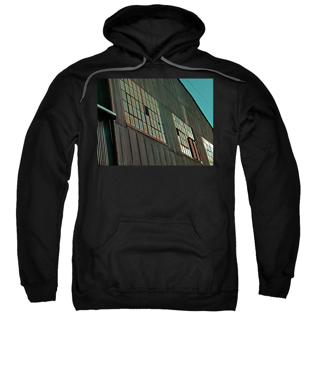 Abstract Sweatshirt featuring the photograph Manufacturing 6 by Lenore Senior