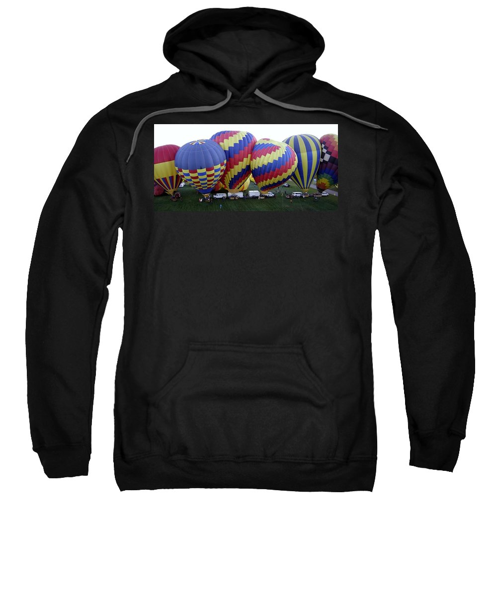 Hot Air Balloons Sweatshirt featuring the photograph Many Balloons by Mary Rogers