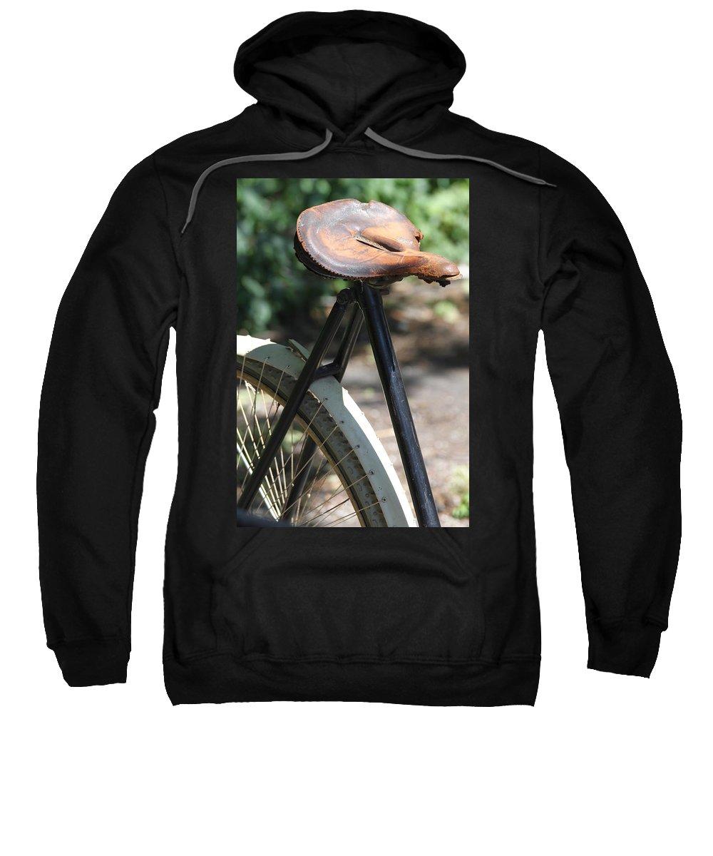 Bike Sweatshirt featuring the photograph Many Miles by Lauri Novak