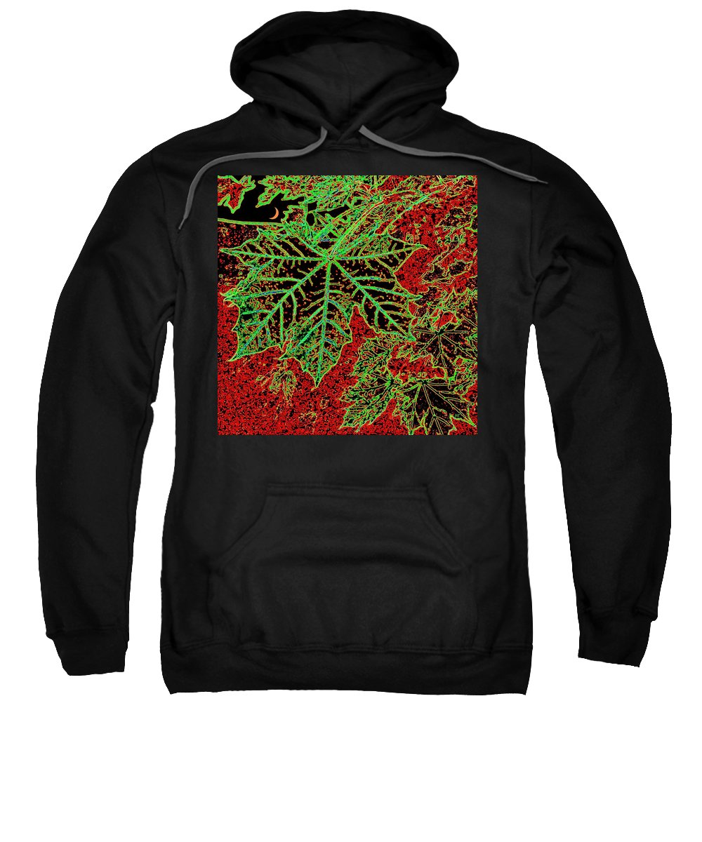 Cheerful Sweatshirt featuring the digital art Maple Mania 7 by Will Borden