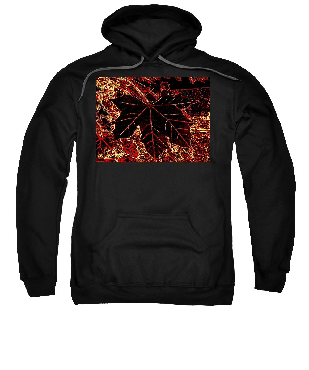 Cheerful Sweatshirt featuring the digital art Maple Mania 9 by Will Borden