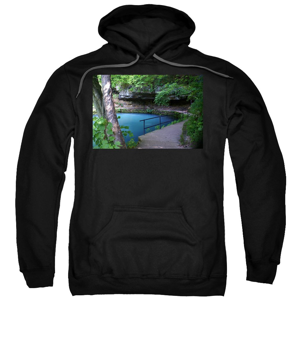 Maramec Springs Park Sweatshirt featuring the photograph Maramec Springs 3 by Marty Koch
