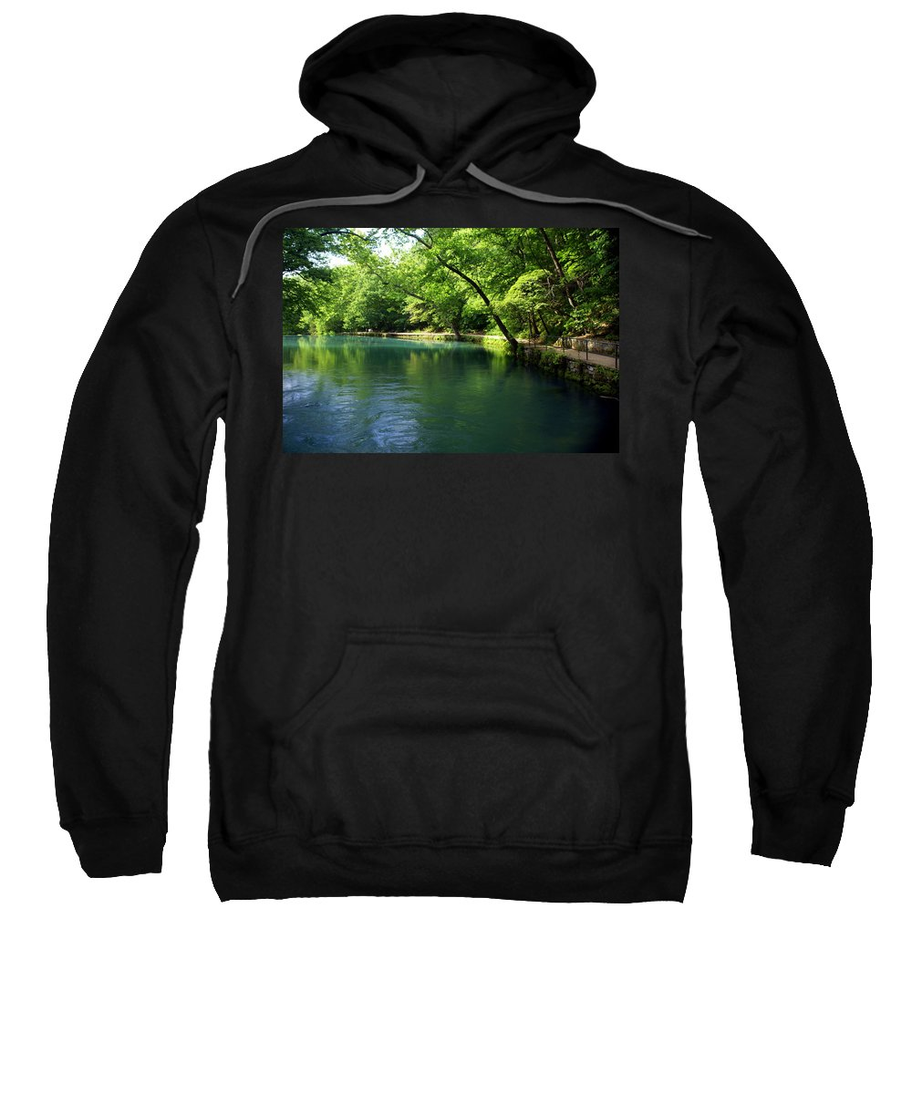 Maramec Springs Park Sweatshirt featuring the photograph Maramec Springs 4 by Marty Koch