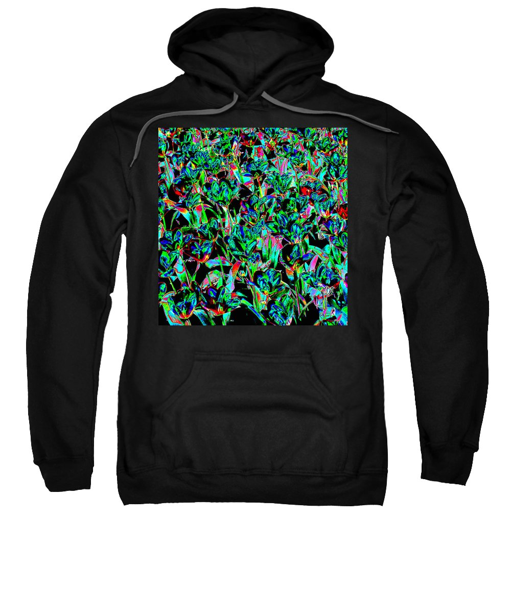 Scottish Art Sweatshirt featuring the digital art March Of The Flowers by Rodger Insh