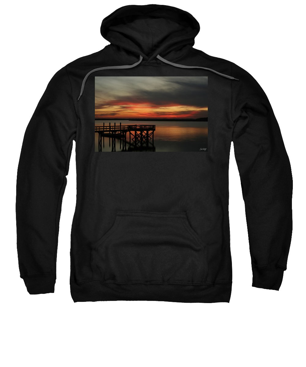 Sunset Sweatshirt featuring the photograph March Sunset by Phill Doherty