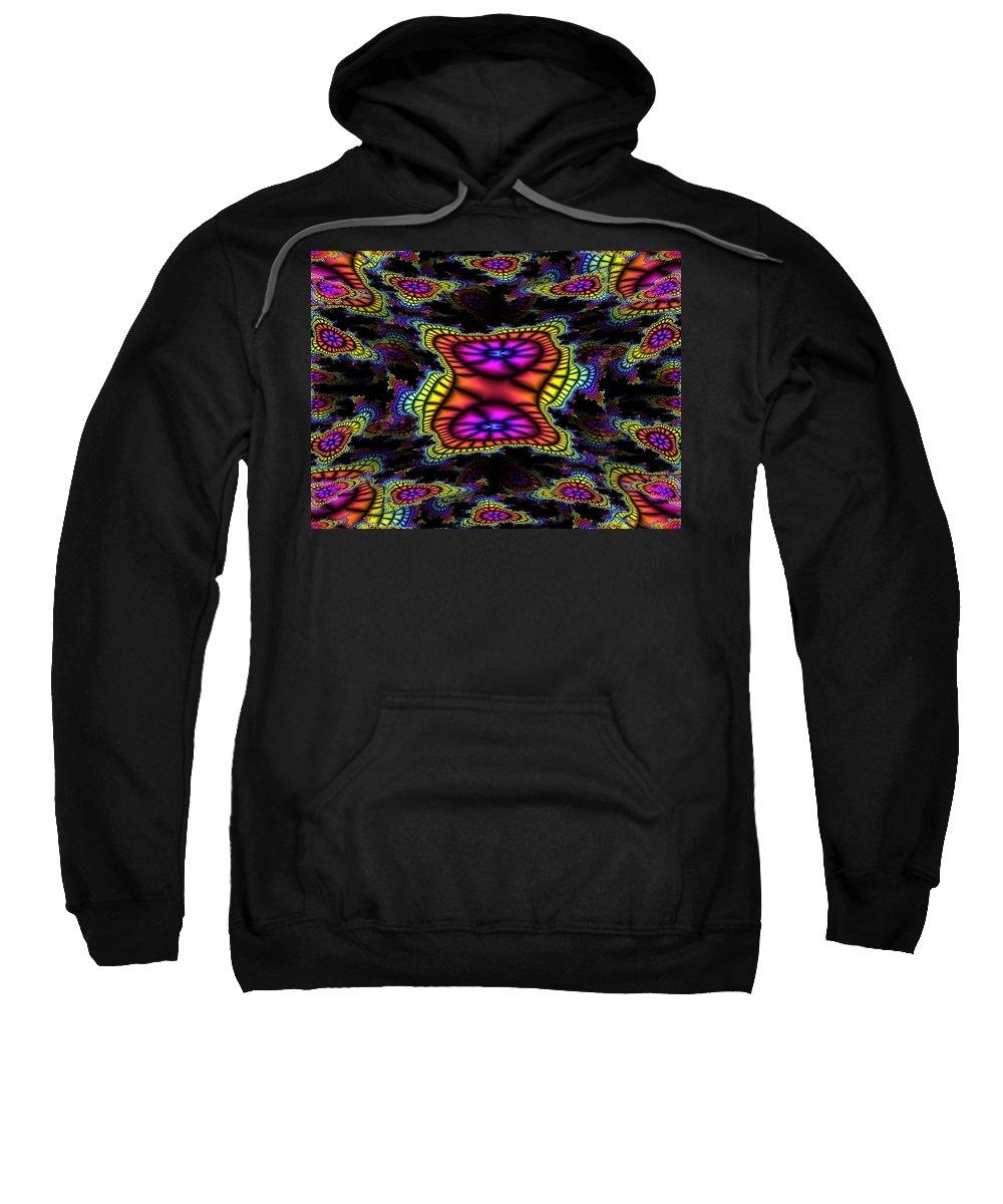 Mardi Gras Sweatshirt featuring the photograph Mardi Gras Fractal by Tim Allen