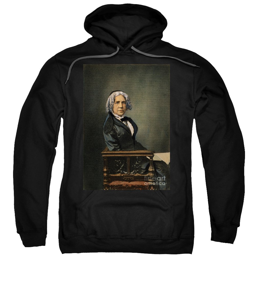 19th Century Sweatshirt featuring the photograph Maria Mitchell (1818-1889) by Granger