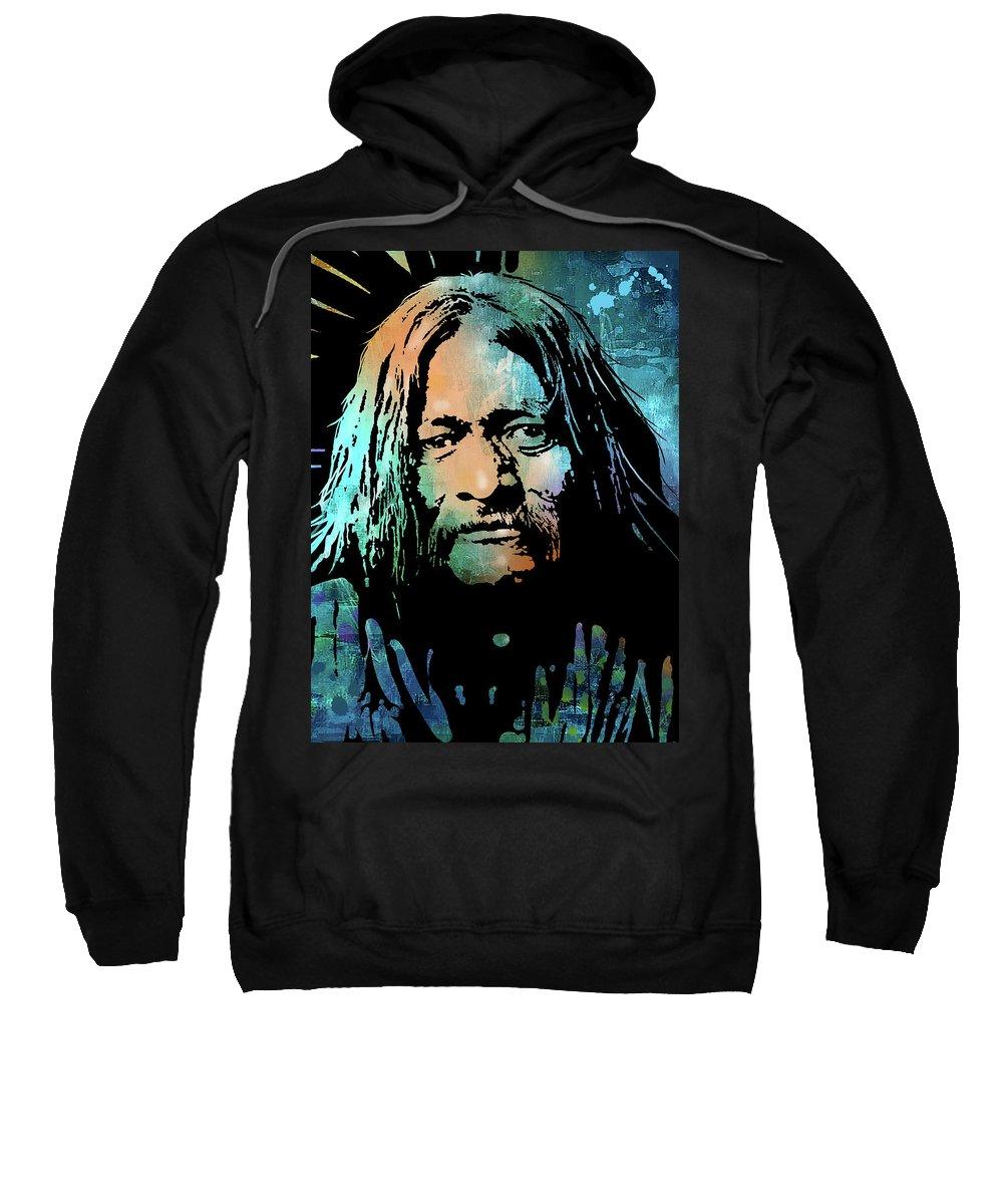 Native Americans Sweatshirt featuring the painting Maricopa Warrior by Paul Sachtleben