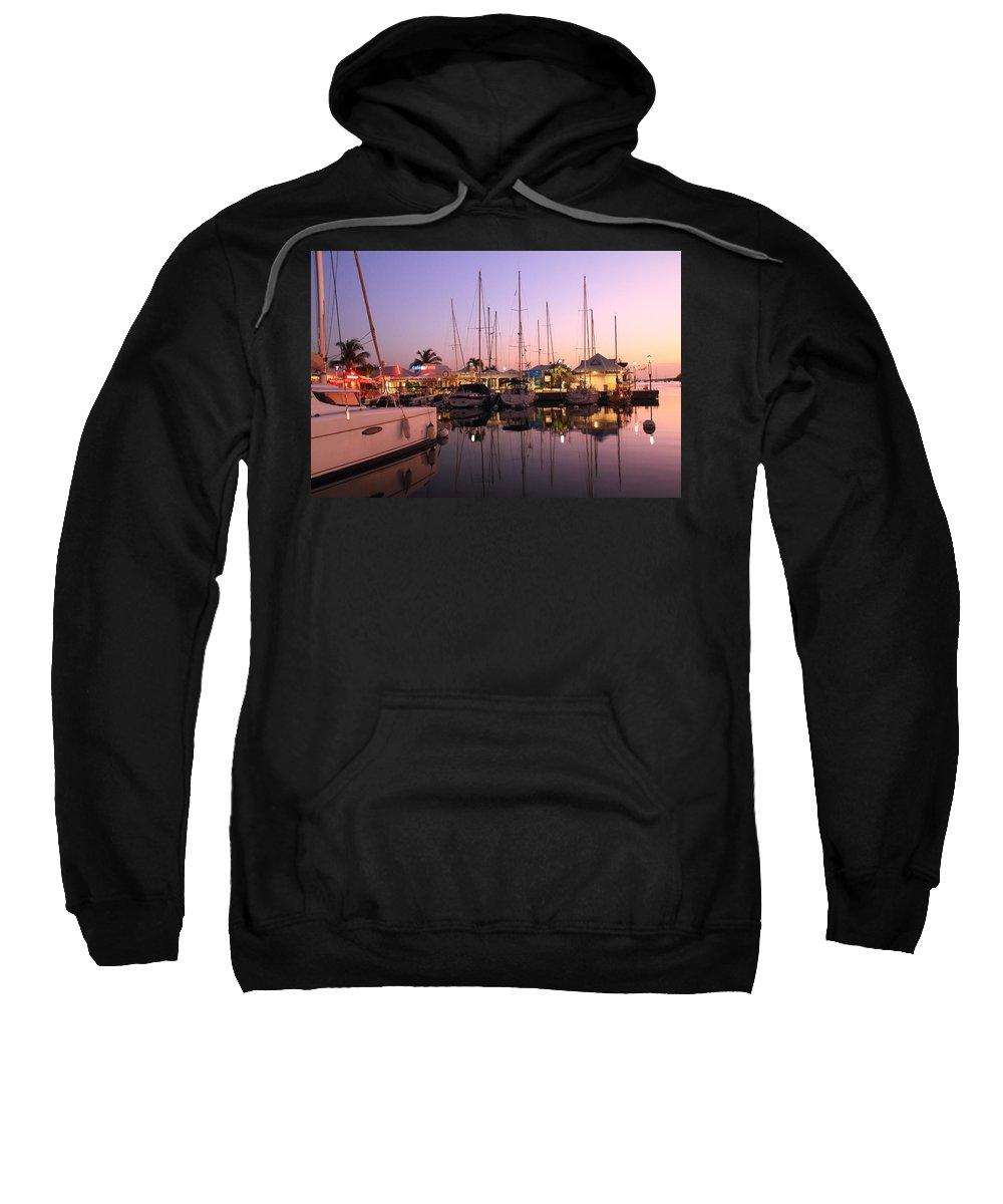 Marigot Sweatshirt featuring the photograph Marigot Marina Saint Martin by Roupen Baker