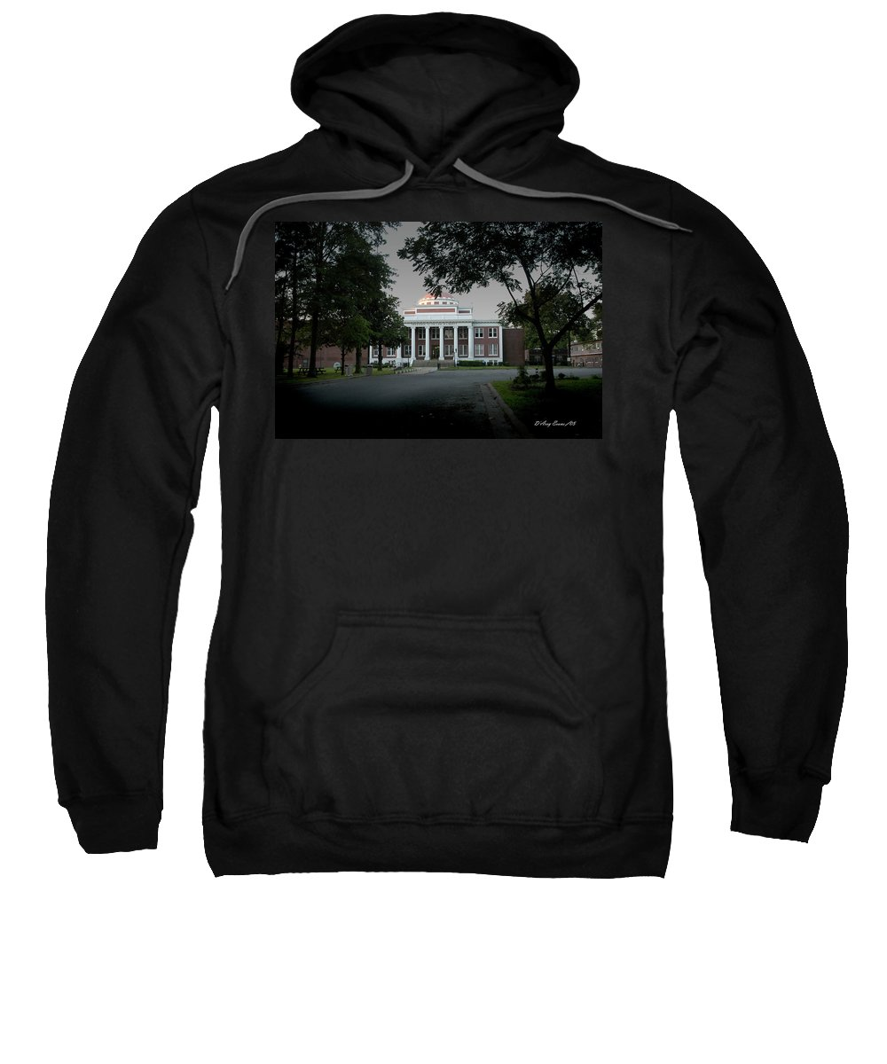 Marion Ar Sweatshirt featuring the photograph Marion Couthouse by D'Arcy Evans