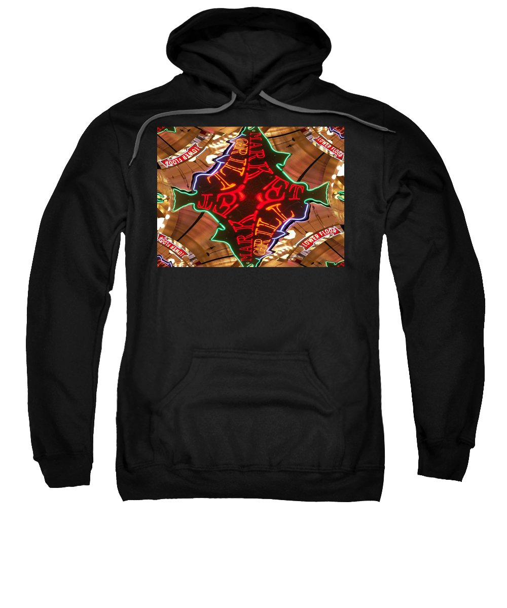 Seattle Sweatshirt featuring the photograph Market Grill by Tim Allen
