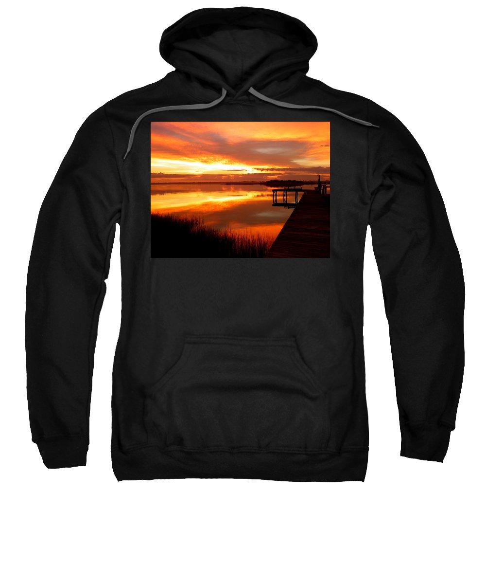 Sunrises Sweatshirt featuring the photograph Marmalade Skies by Karen Wiles