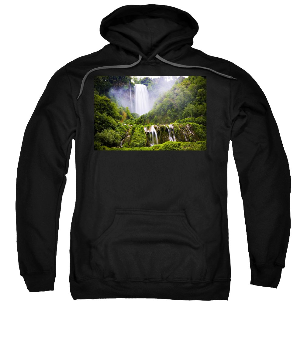 Italy Sweatshirt featuring the photograph Marmore Waterfalls Italy by Marilyn Hunt
