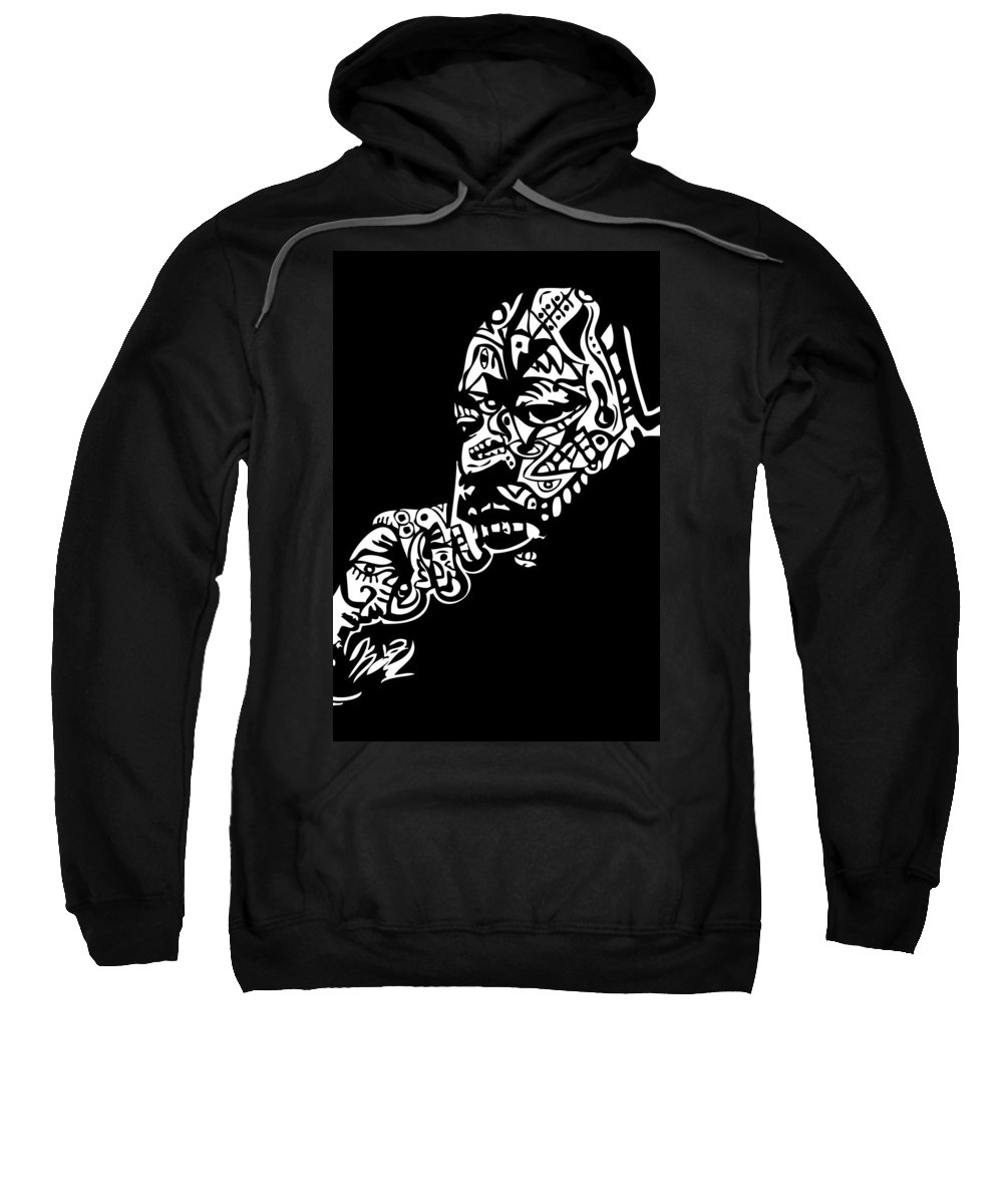 Mlk Sweatshirt featuring the digital art Martin Luther King Jr. by Kamoni Khem