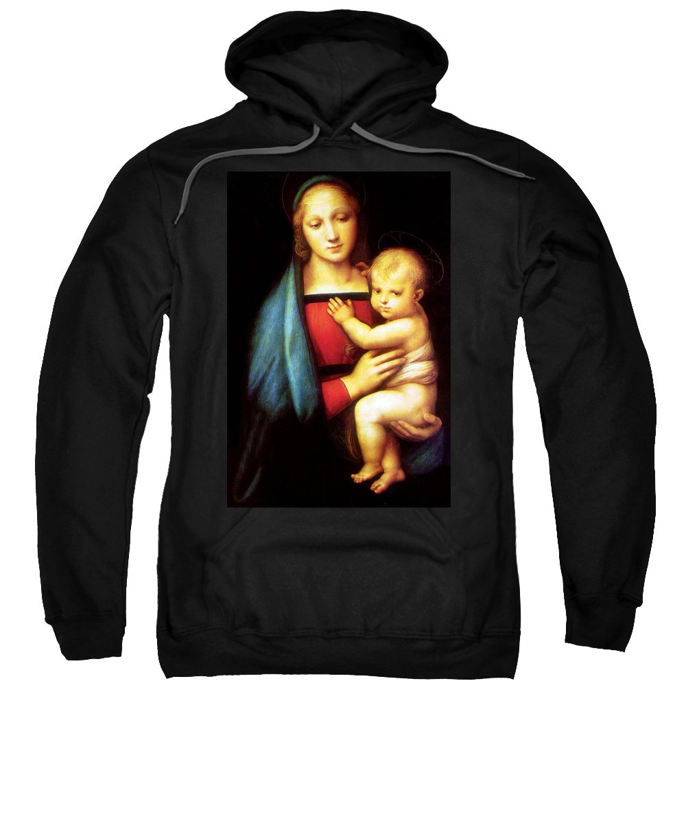 Mary Sweatshirt featuring the photograph Mary And Baby Jesus by Munir Alawi