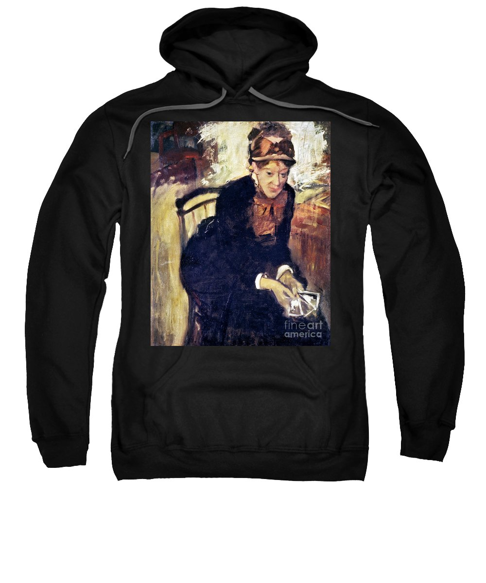 1880 Sweatshirt featuring the photograph Mary Cassatt (1845-1926) by Granger