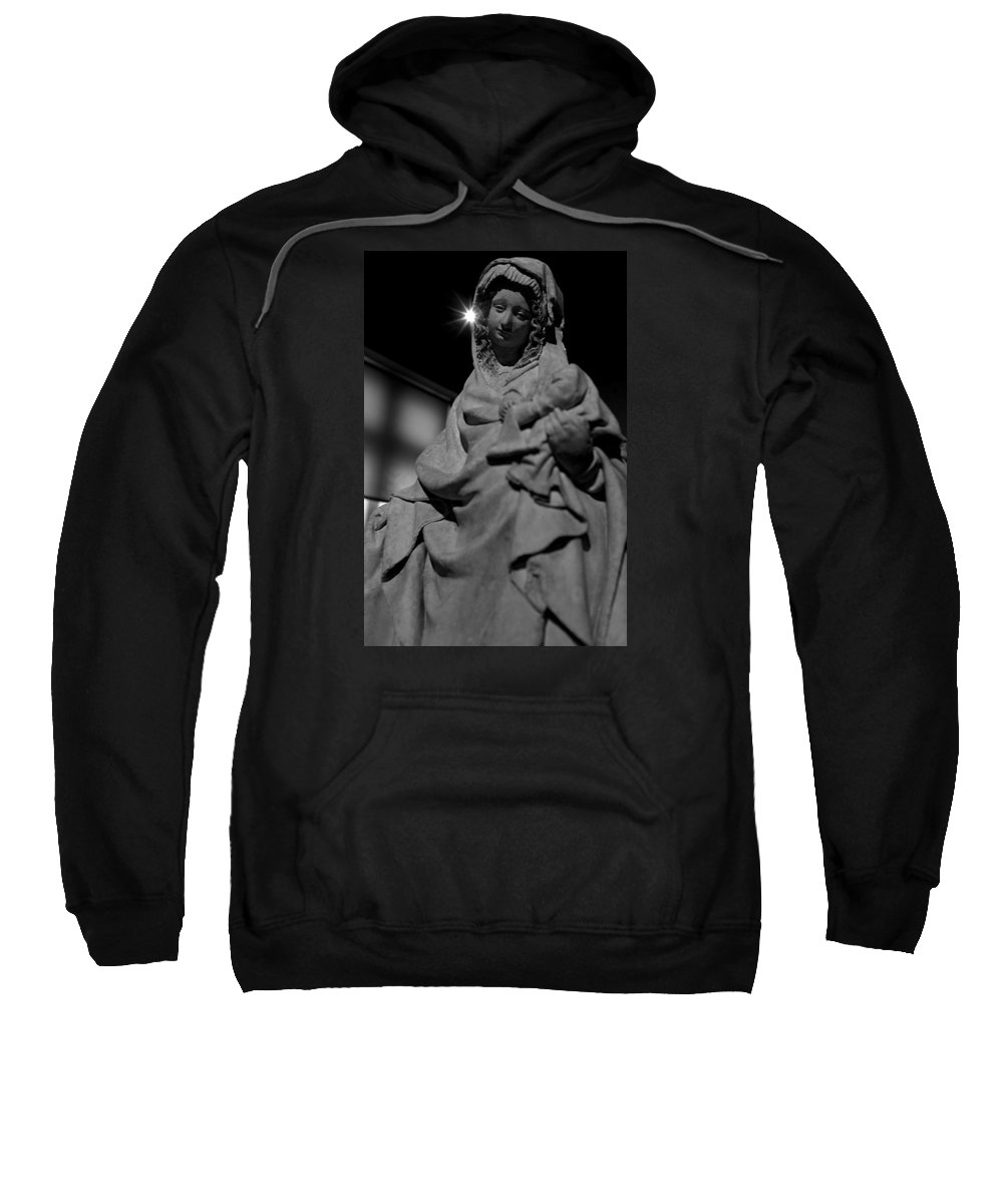 Mary Sweatshirt featuring the photograph Mary by Win Naing