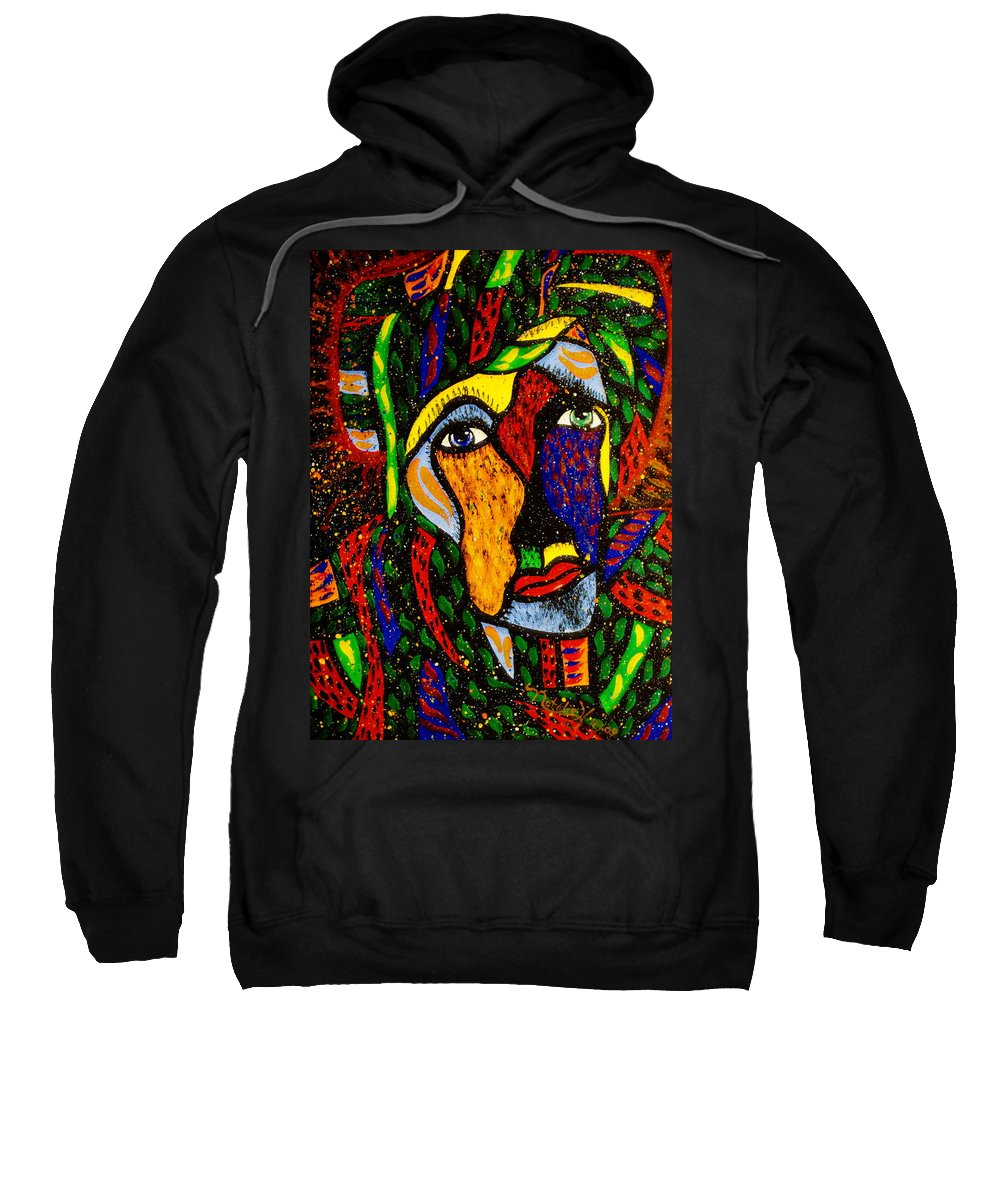 Masquerade Sweatshirt featuring the painting Masquerade by Natalie Holland