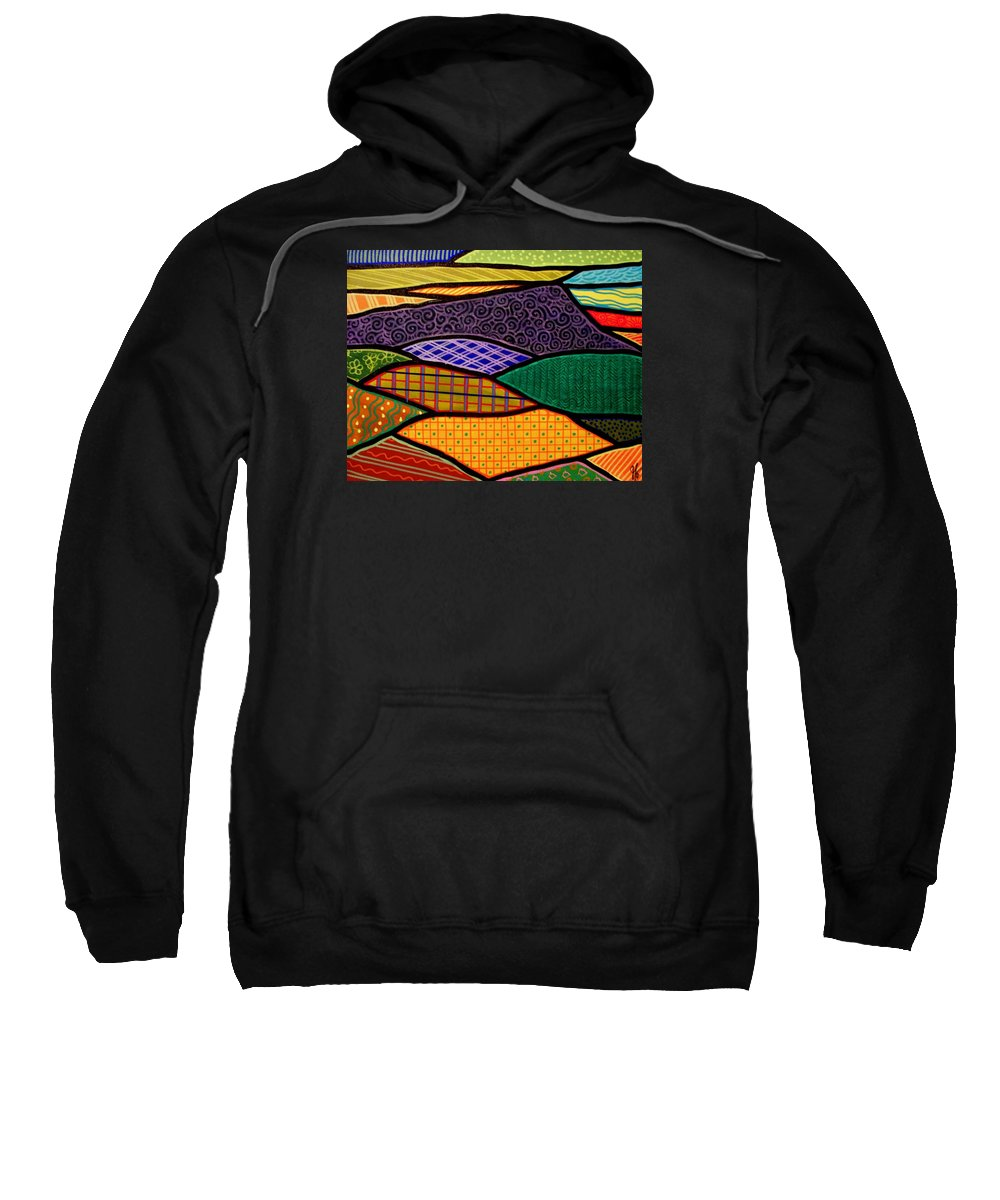 Mountain Sweatshirt featuring the painting Massanutten Sunrise by Jim Harris
