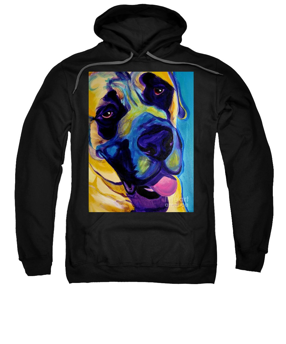 Dog Sweatshirt featuring the painting Mastiff - Lazy Sunday by Alicia VanNoy Call