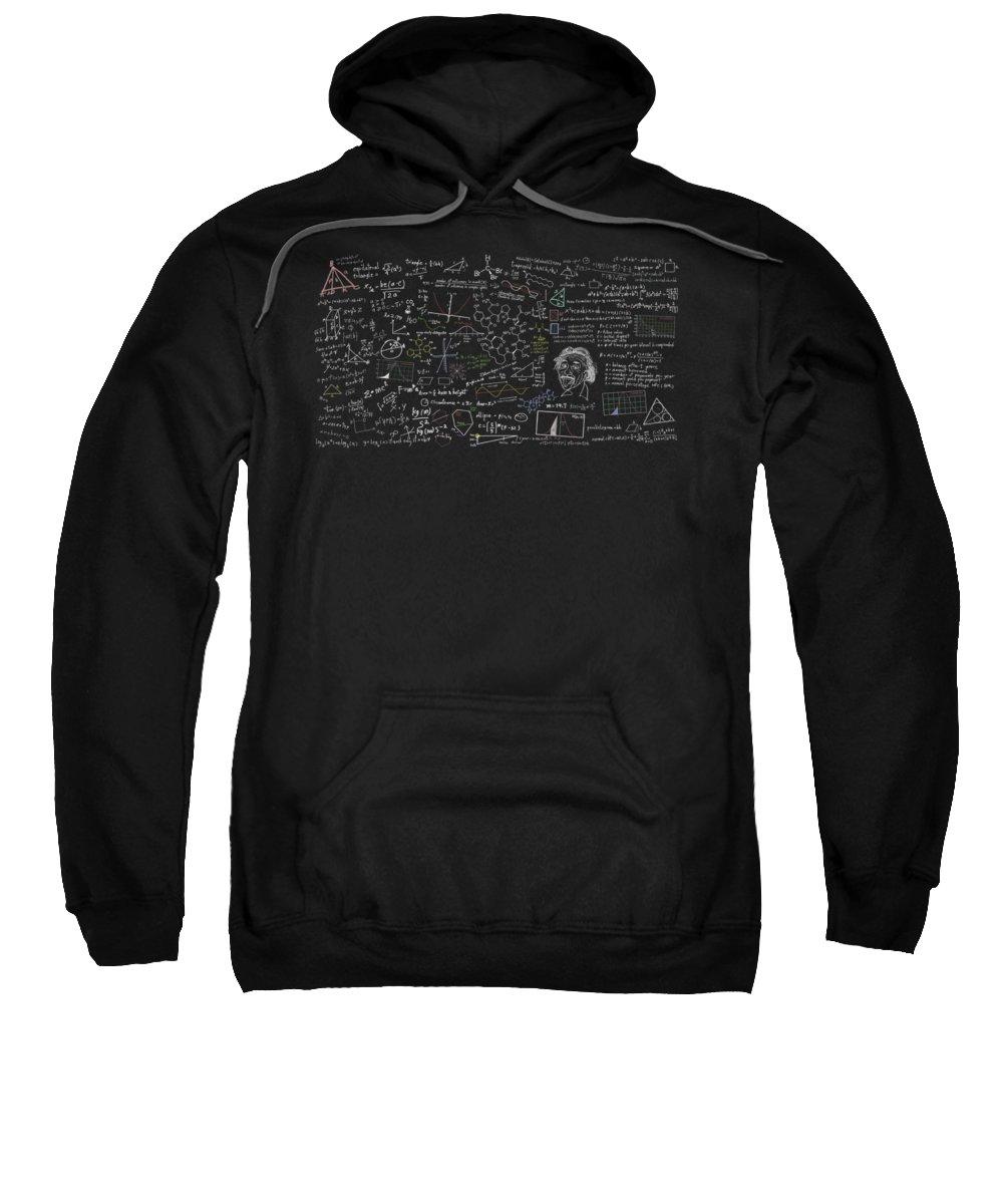 Algebra Sweatshirt featuring the digital art Maths Formula by Setsiri Silapasuwanchai