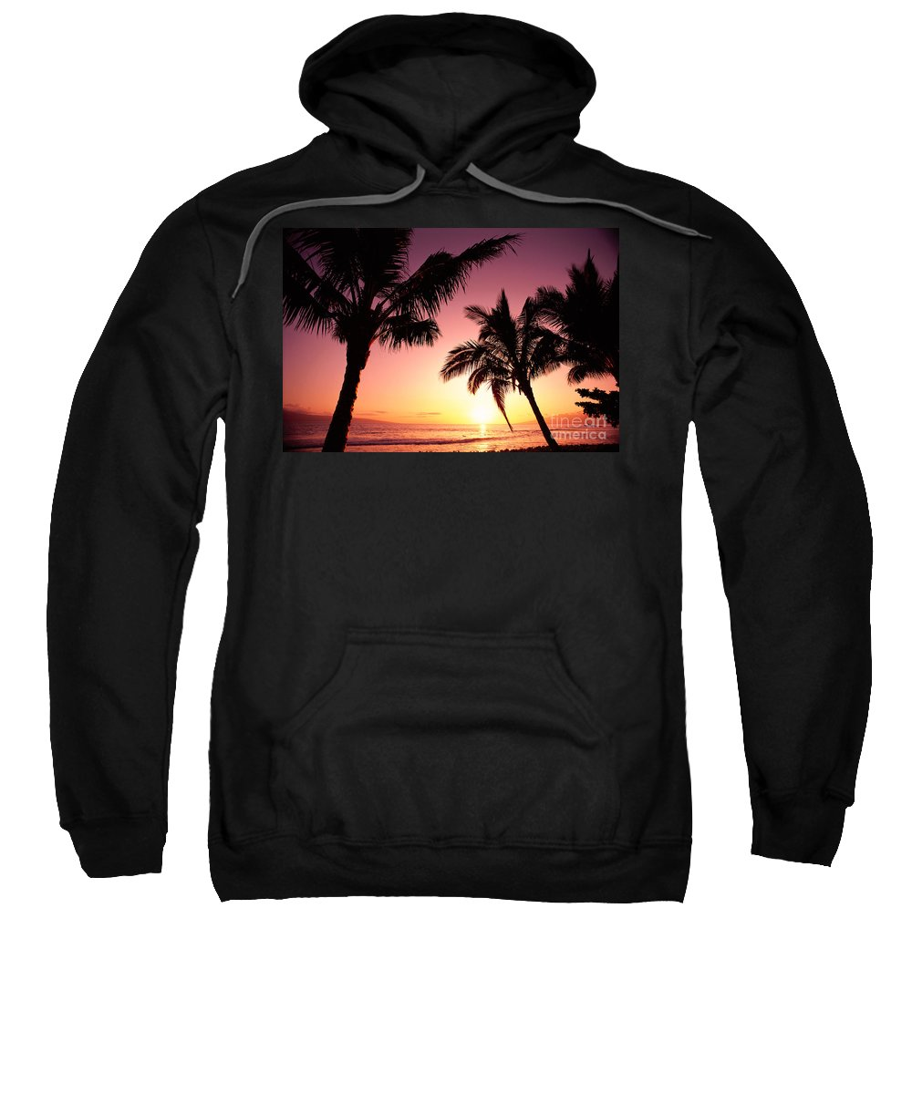 Aglow Sweatshirt featuring the photograph Maui, Kaanapali Beach by Carl Shaneff - Printscapes