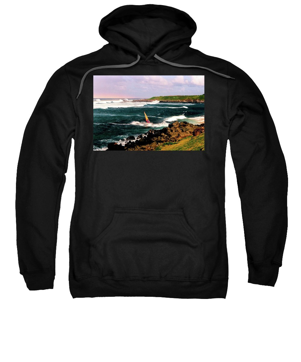 Scenic Sweatshirt featuring the photograph Maui Surfer 2 by Richard Jenkins