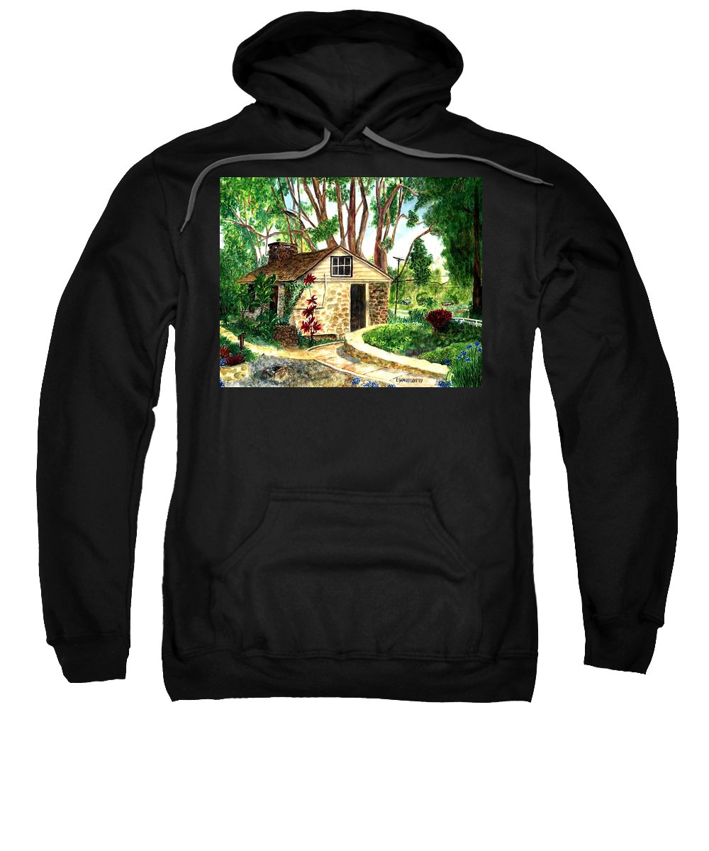 Maui Sweatshirt featuring the painting Maui Winery by Eric Samuelson