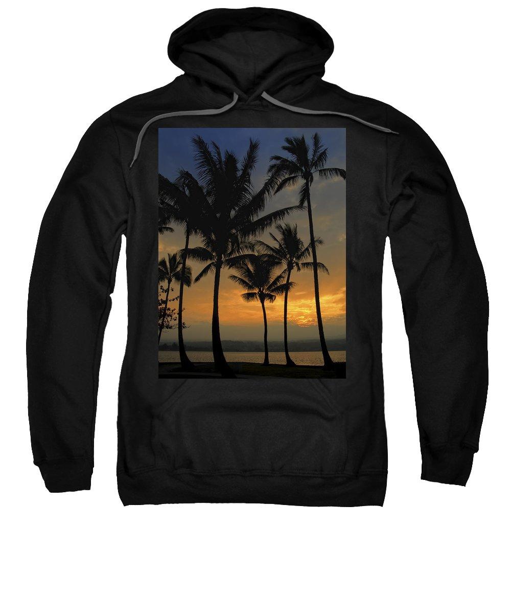 Sunset Sweatshirt featuring the photograph Mauna Loa Sunset - Big Island Hawaii by Daniel Hagerman