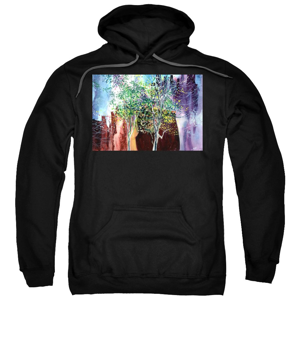 Nature Sweatshirt featuring the painting Maya by Anil Nene