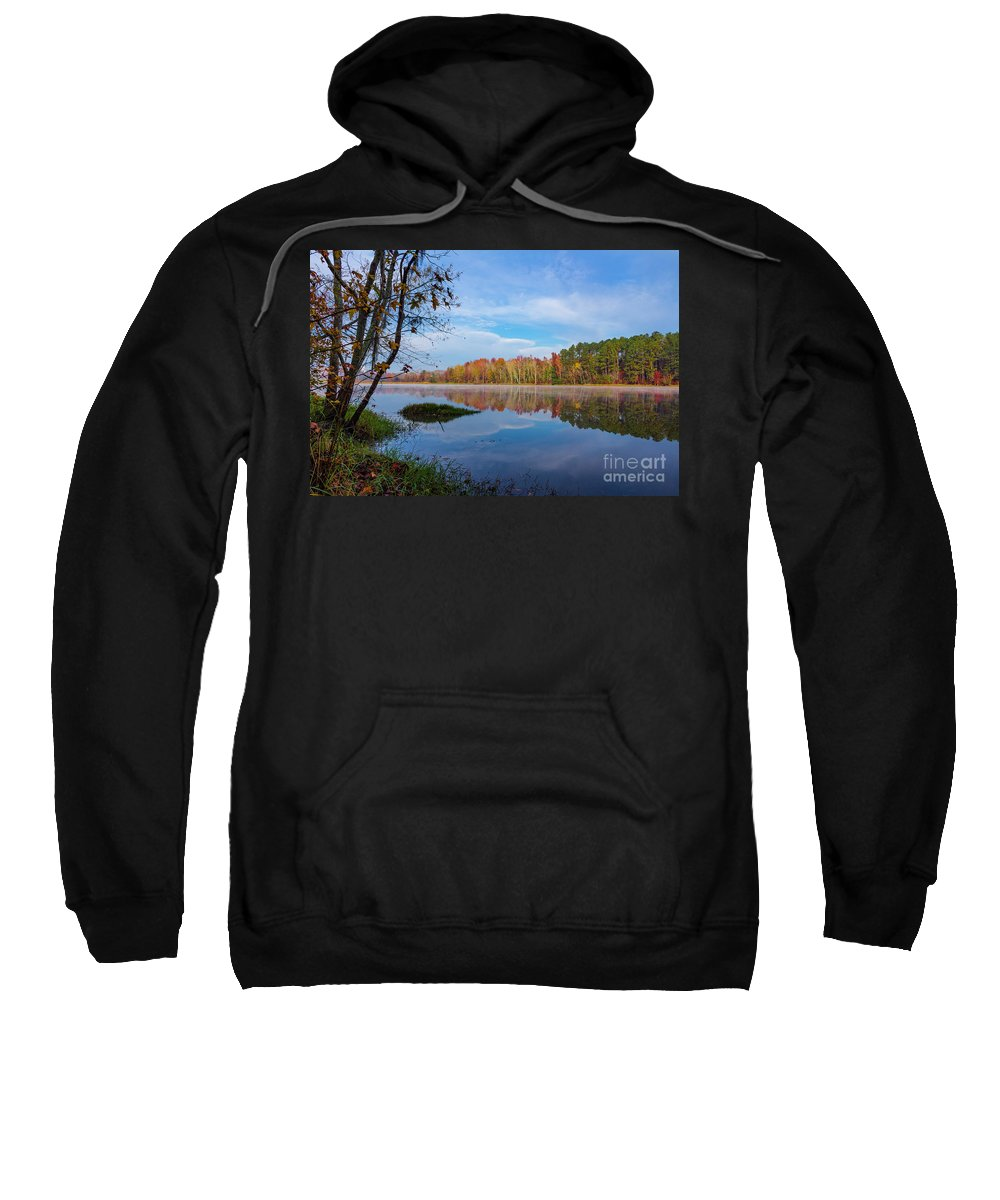 2017 Sweatshirt featuring the photograph Mayor's Pond, Autumn, #1 by Gregory Schultz