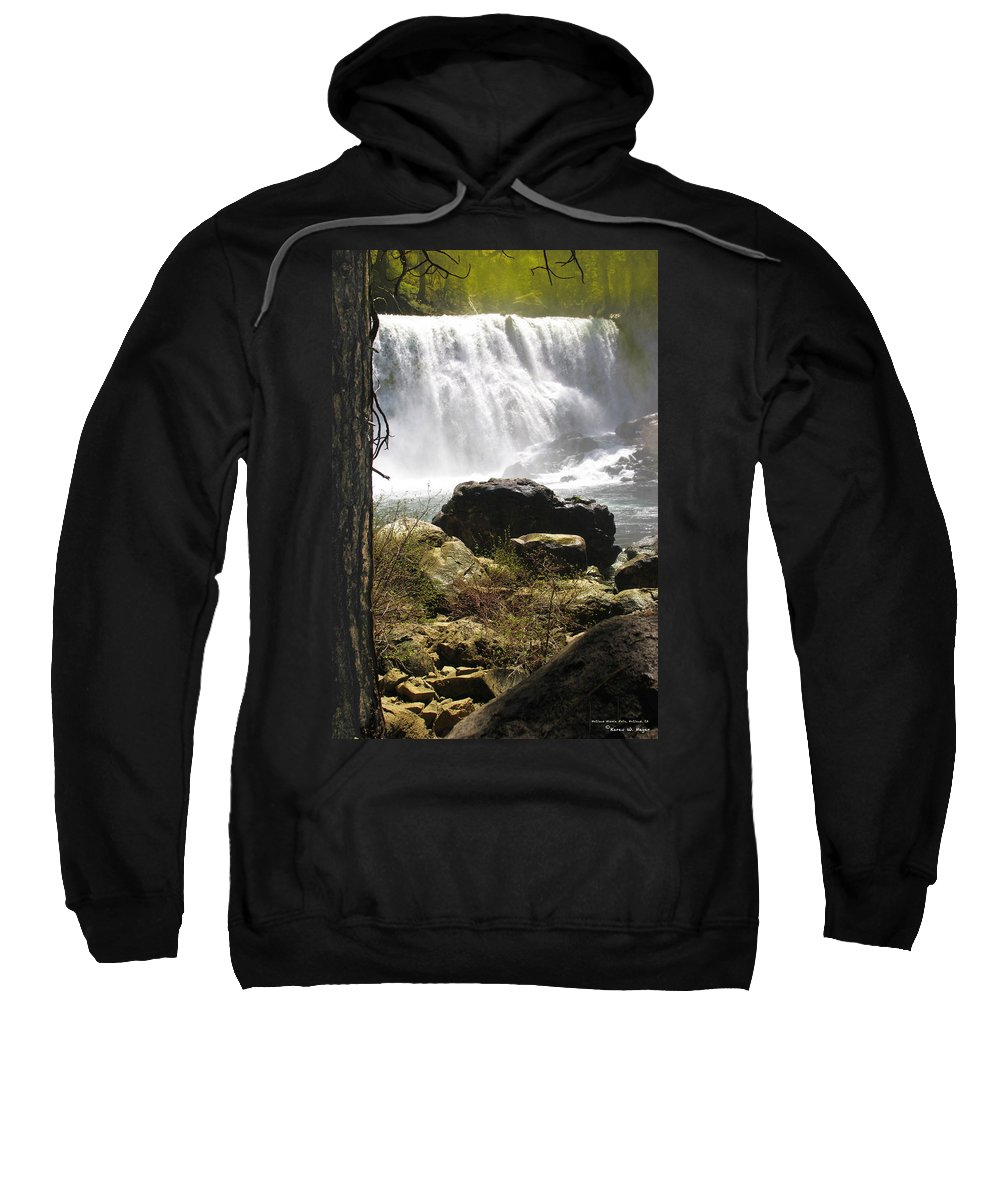 Landscape Sweatshirt featuring the photograph Mccloud Middle Falls by Karen W Meyer