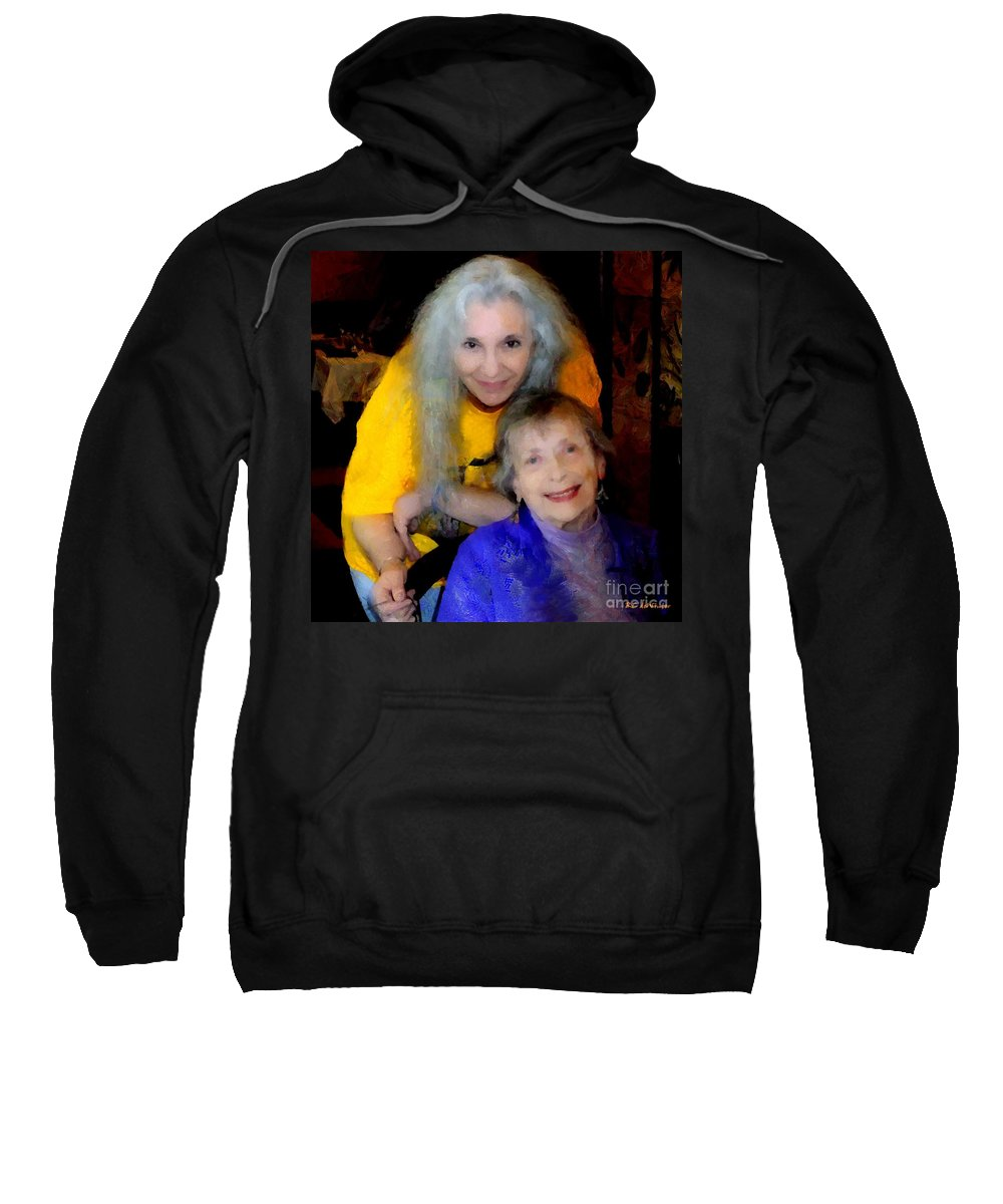 Colorful Sweatshirt featuring the painting Me And B by RC DeWinter