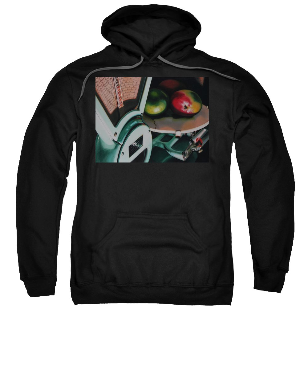 Scale Sweatshirt featuring the painting Measured by Denny Bond