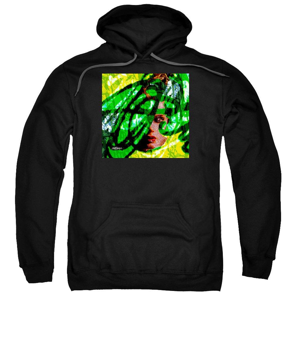 Abstract Sweatshirt featuring the digital art Medusa 1-26 by Seth Weaver