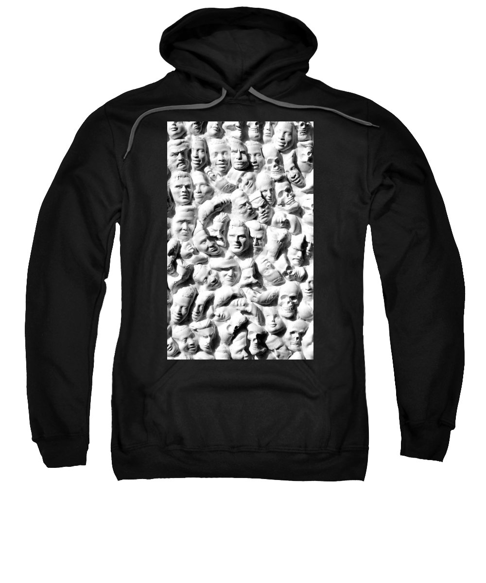 Figure Sweatshirt featuring the sculpture Melancholic Journey 1 by Mark Cawood