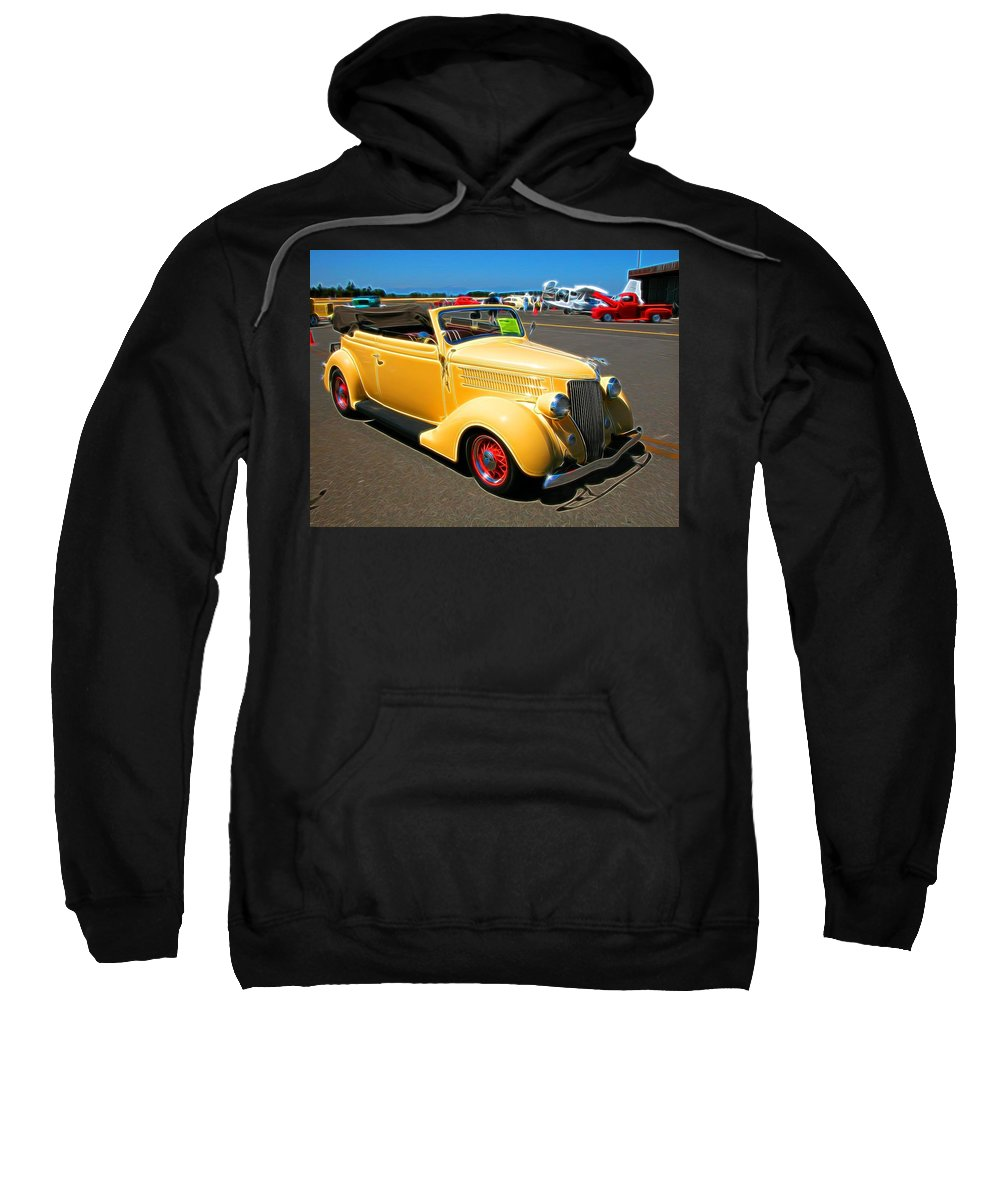 Ford Sweatshirt featuring the photograph Mello Yellow by Tim Coleman