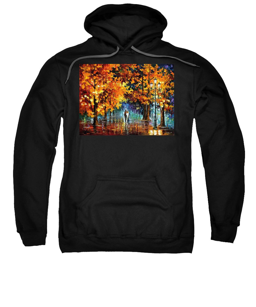 Afremov Sweatshirt featuring the painting Melodies From The Past by Leonid Afremov