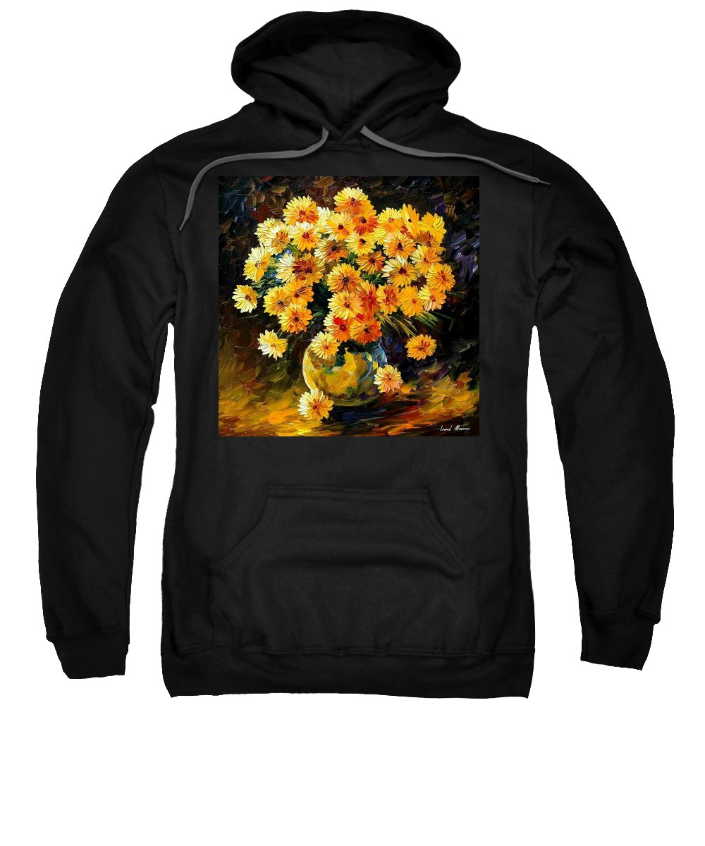 Still Life Sweatshirt featuring the painting Melody Of Beauty by Leonid Afremov
