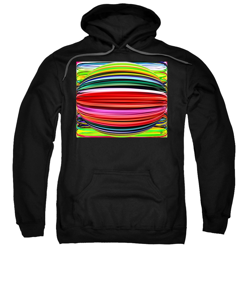 Abstract Sweatshirt featuring the digital art Melon Mania by Will Borden