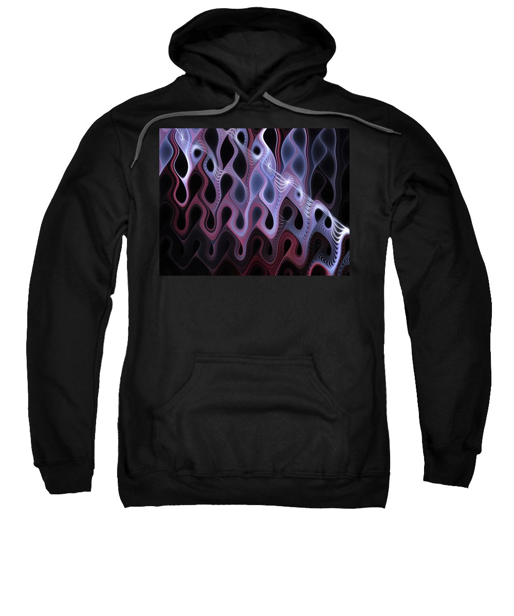 Digital Art Sweatshirt featuring the digital art Meltdown by Amanda Moore