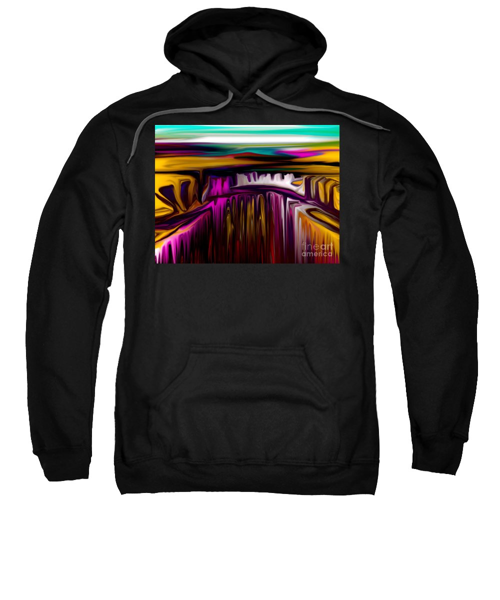 Abstract Sweatshirt featuring the digital art Melting by David Lane