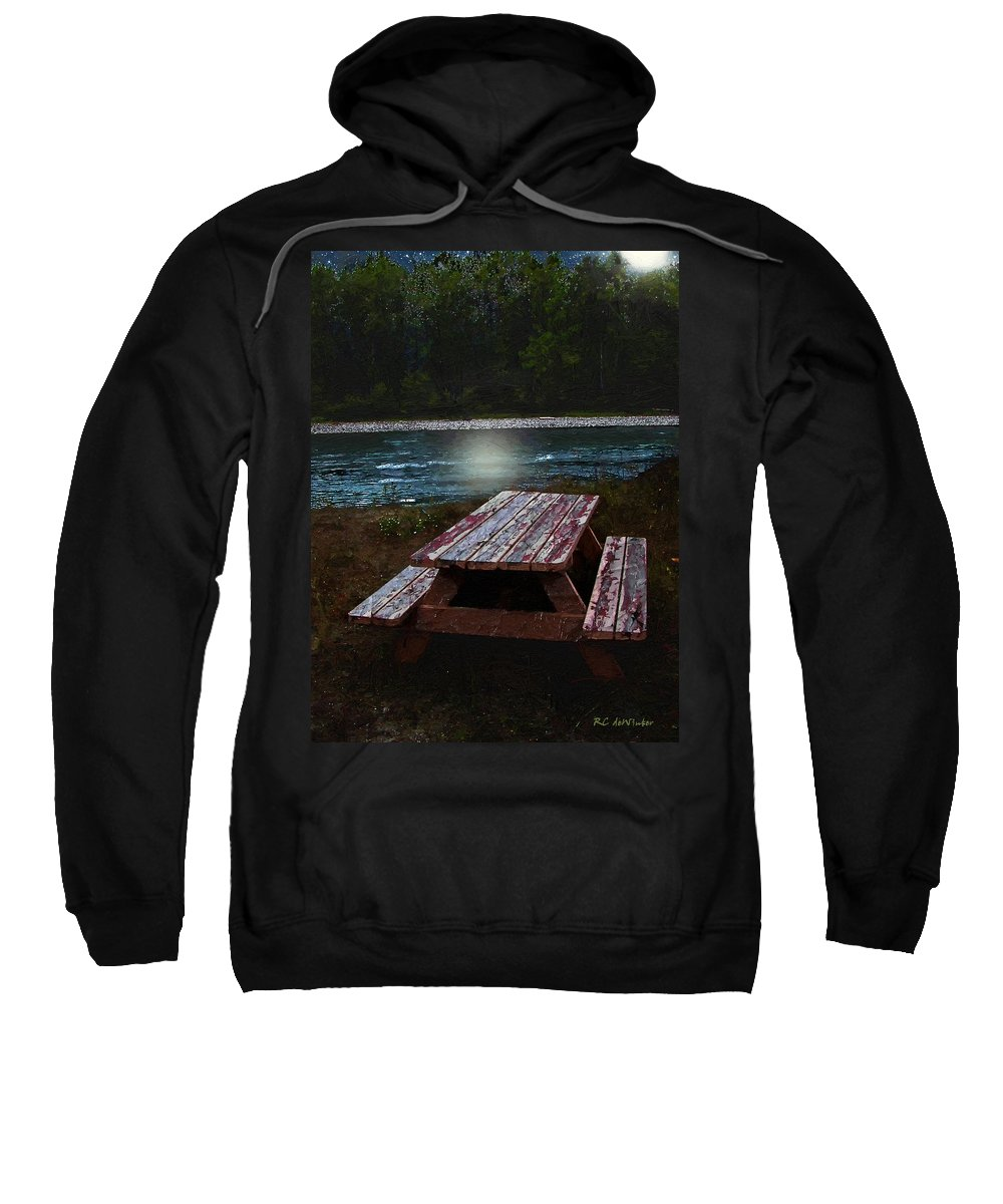 Autumn Sweatshirt featuring the painting Memories Of Summers Past by RC DeWinter