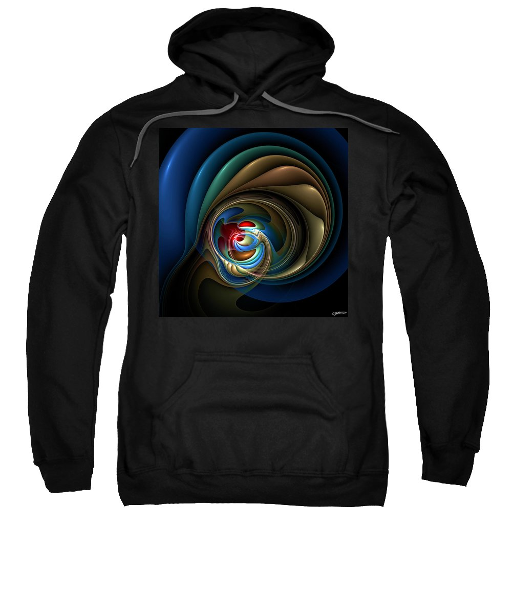 Abstract Sweatshirt featuring the digital art Mental Squirrel Cage by Casey Kotas