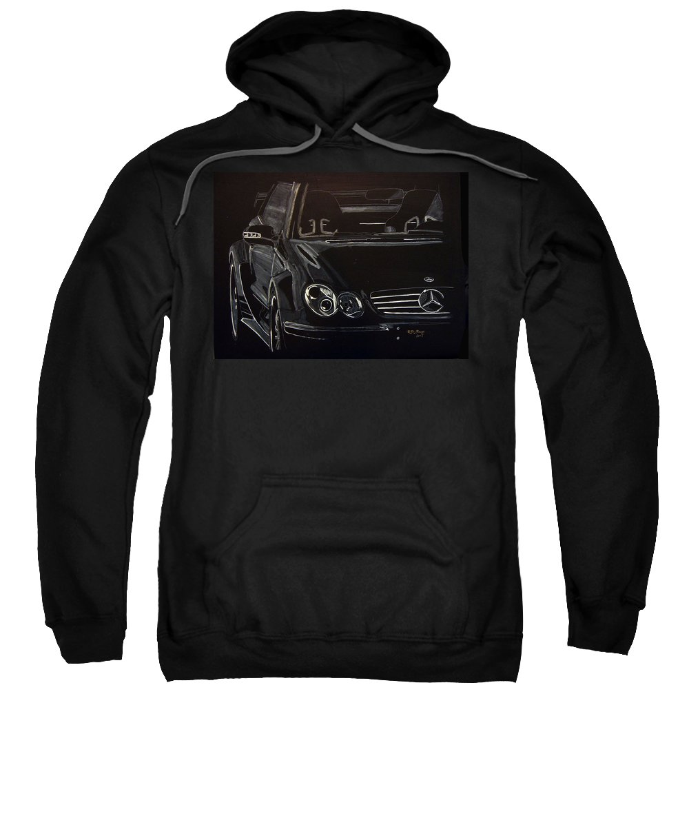 Merc Sweatshirt featuring the painting Mercedes Sl by Richard Le Page