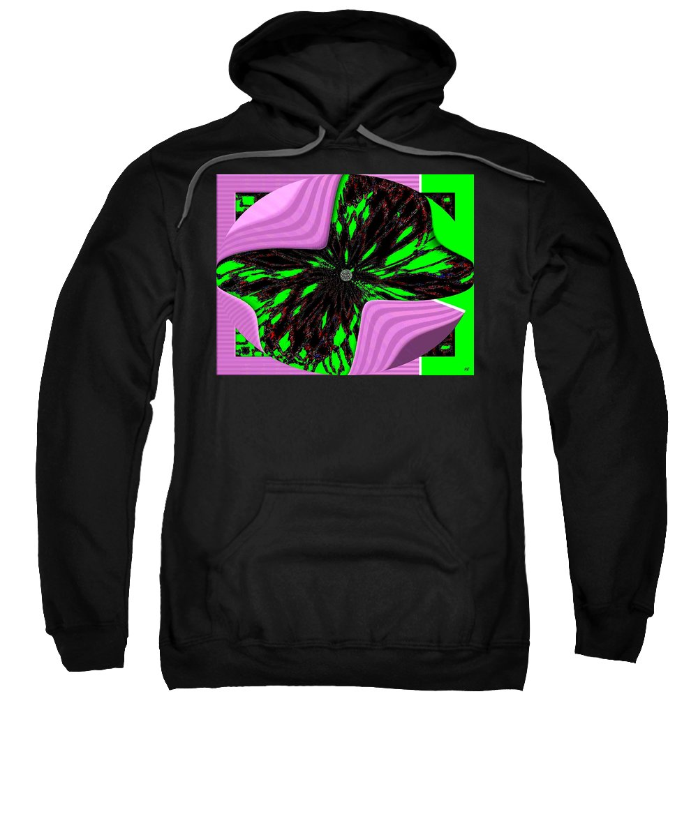 Metamorphose Sweatshirt featuring the digital art Metamorphose by Will Borden