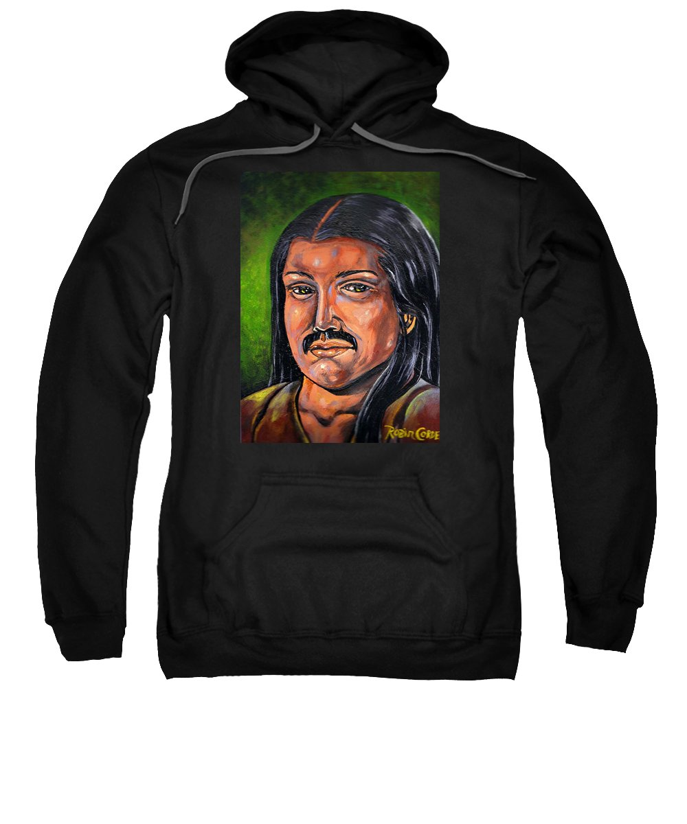 Mexican Man Sweatshirt featuring the painting Mexican Man by Robin Cordero