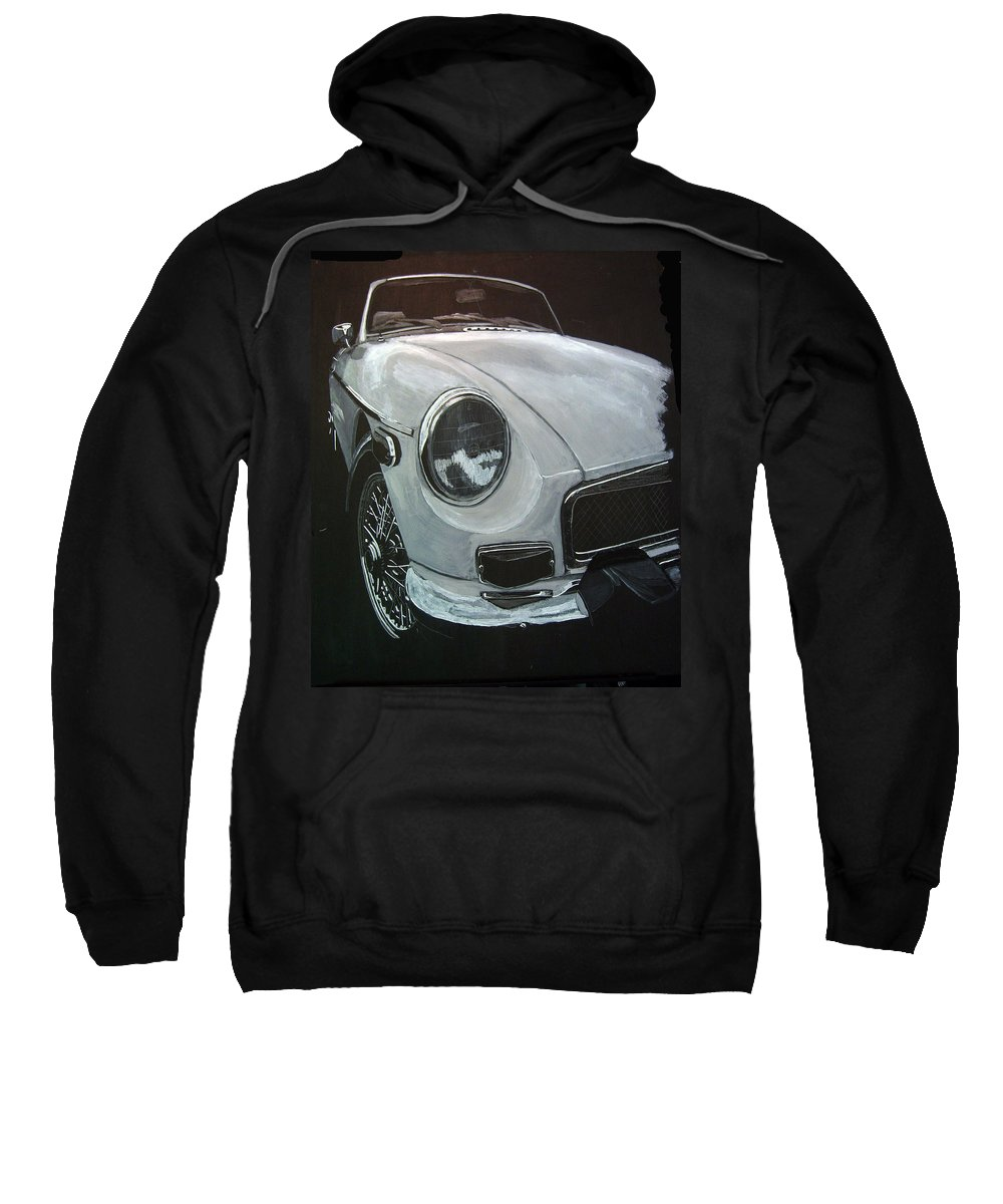Mgb Sweatshirt featuring the painting MGB by Richard Le Page