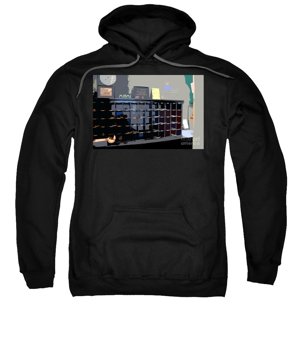 Miami Beach Florida Sweatshirt featuring the photograph Miami Beach Hotel Key Slots by David Lee Thompson